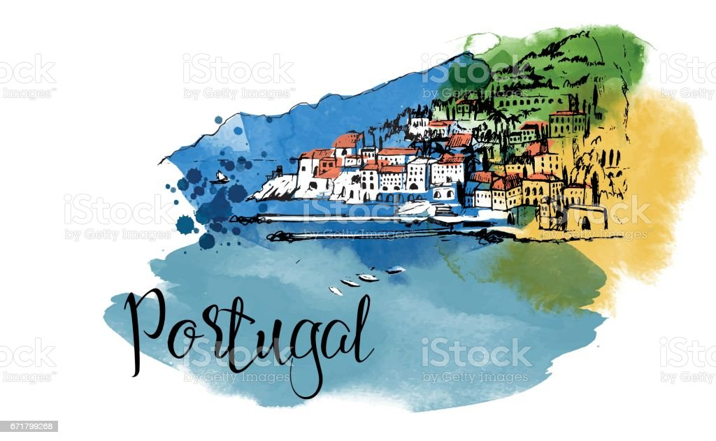 Portugal vector art illustration