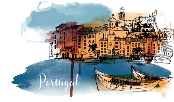 portugalia - lizbona stock illustrations