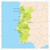 Portugal Map Vector Download Vectors Page - Portugal map vector