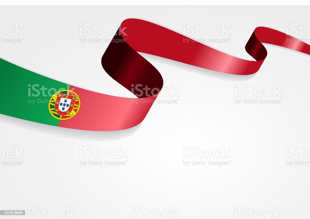 Portuguese flag background. Vector illustration vector art illustration