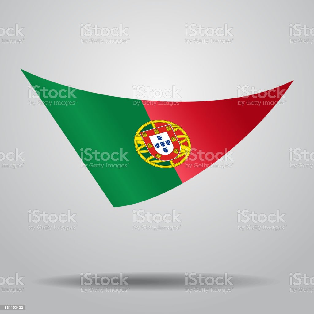 Portuguese flag background. Vector illustration. - ilustração de arte vetorial