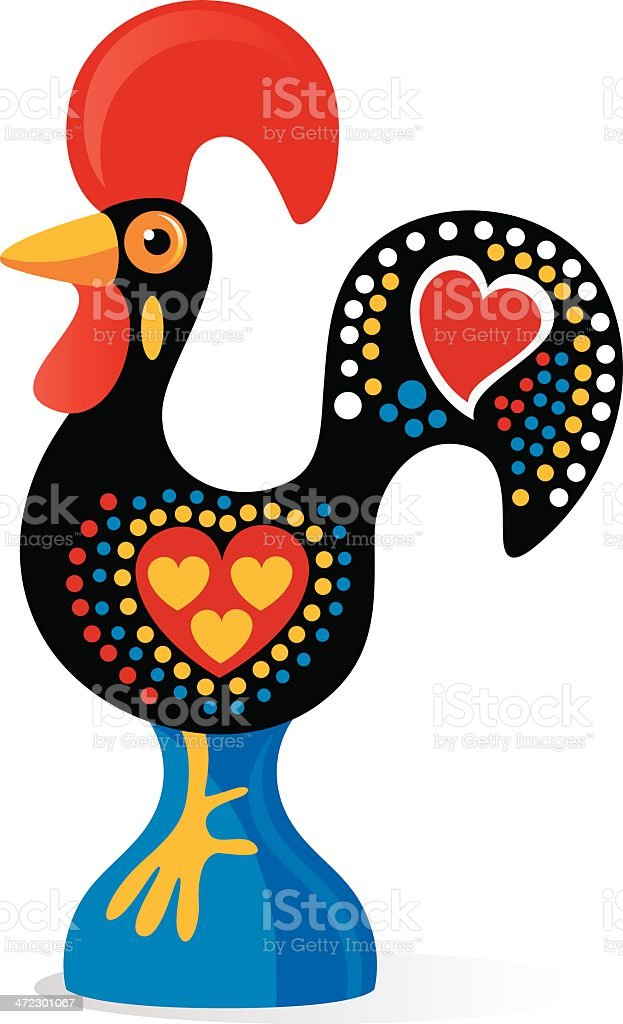 Portuguese Rooster royalty-free stock vector art