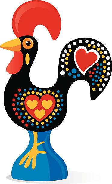 bildbanksillustrationer, clip art samt tecknat material och ikoner med portuguese rooster - ungtupp