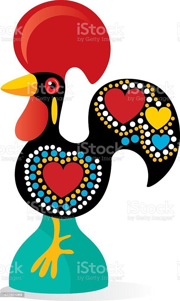 Portuguese Rooster vector art illustration