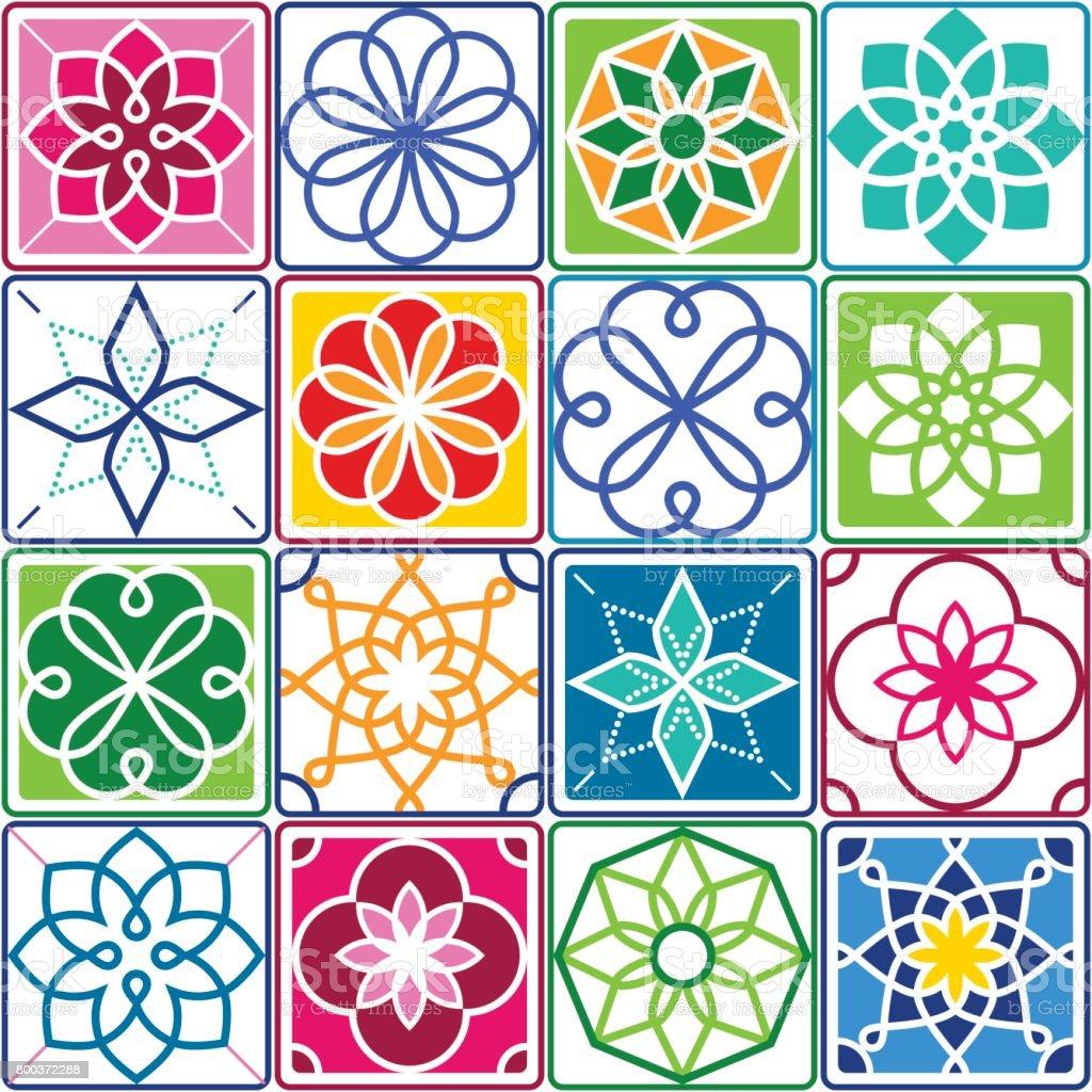 Portugu s azulejos patr n azulejo colecci n dise o - Azulejos de colores ...