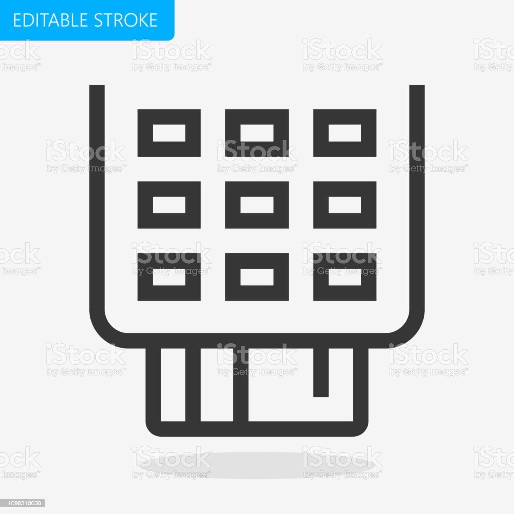 Pos Terminal Credit Card Payment Icon Editable Stroke Pixel Perfect Vector  Icon Stock Illustration - Download Image Now