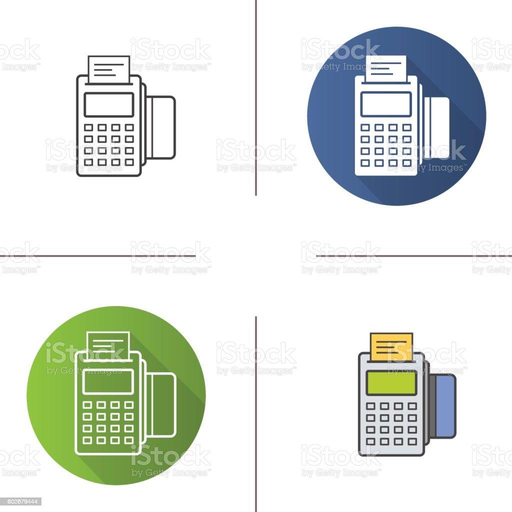 Pos terminal icons vector art illustration
