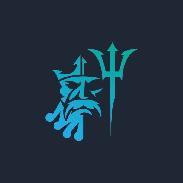 Royalty Free Poseidon Greek God Clip Art Vector Images