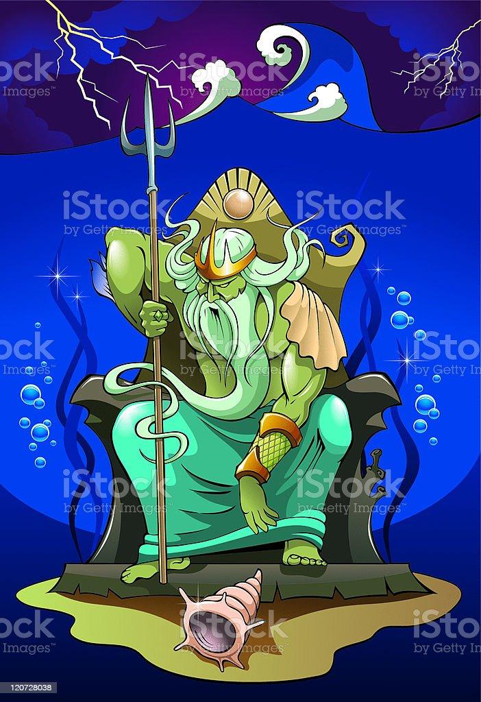 Poseidon God Of The Sea Stock Illustration Download Image
