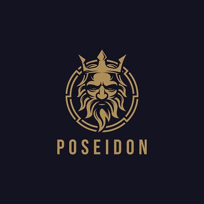 Poseidon nepture god vector illustration