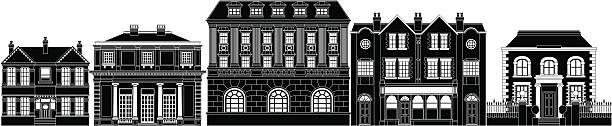포쉬 스마트네트워크 연립 건물 - 잉글랜드 문화 stock illustrations