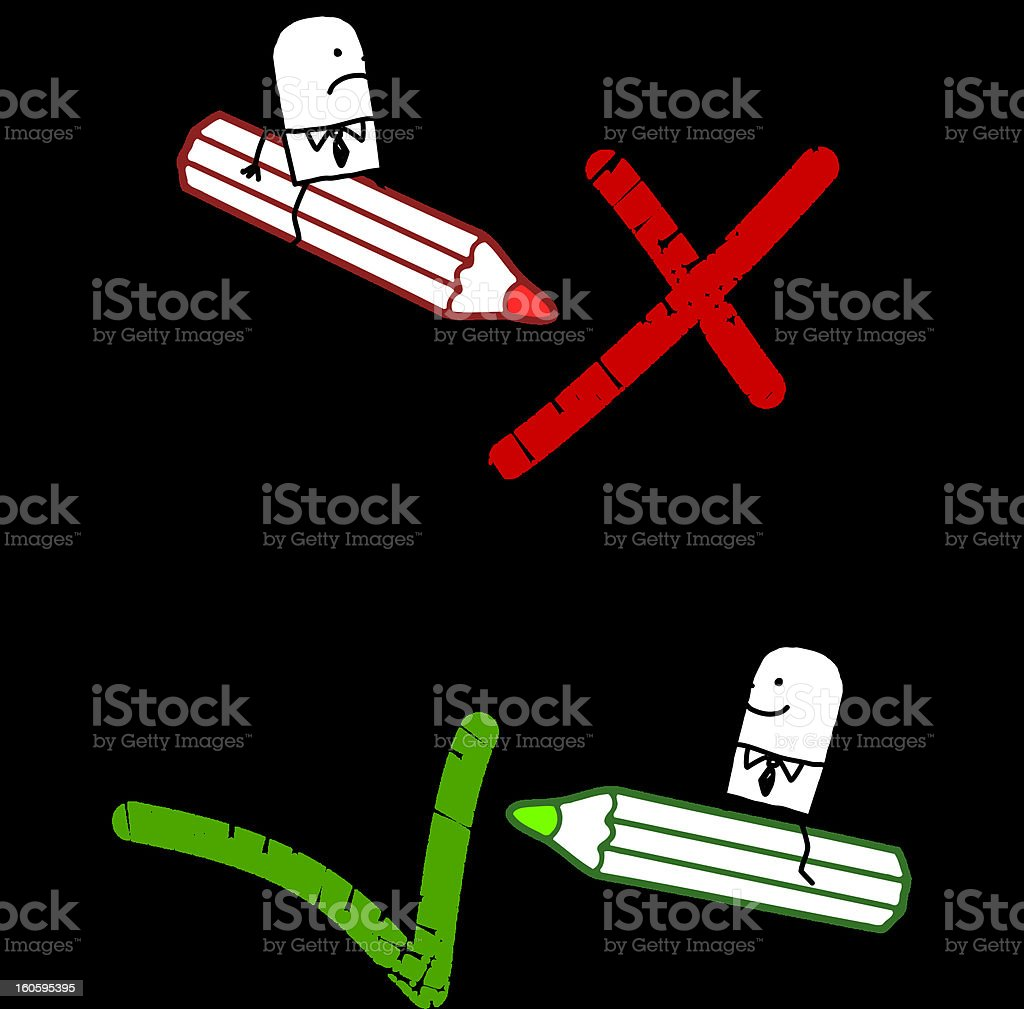 positive & negative signs royalty-free stock vector art