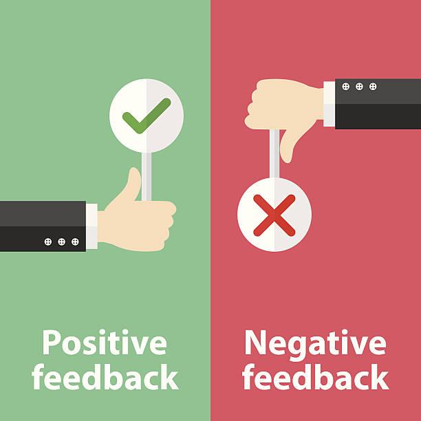stockillustraties, clipart, cartoons en iconen met positive and negative feedback - negatieve emotie