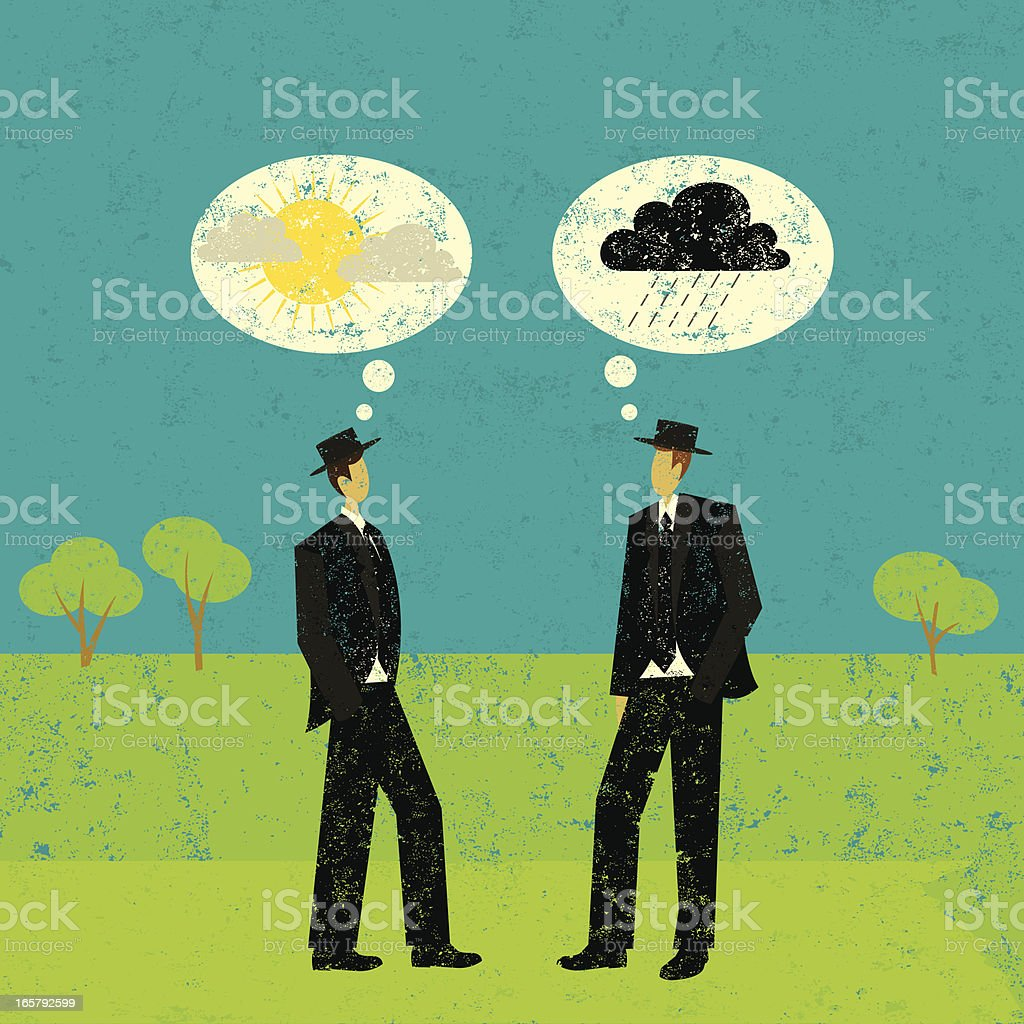 Positive and negative predictions royalty-free stock vector art