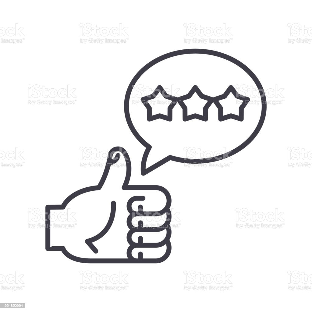 Positive feedback black icon concept. Positive feedback flat  vector symbol, sign, illustration. royalty-free positive feedback black icon concept positive feedback flat vector symbol sign illustration stock vector art & more images of admiration