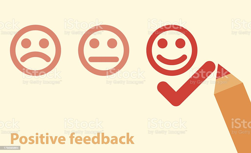 positive feedback concept vector art illustration