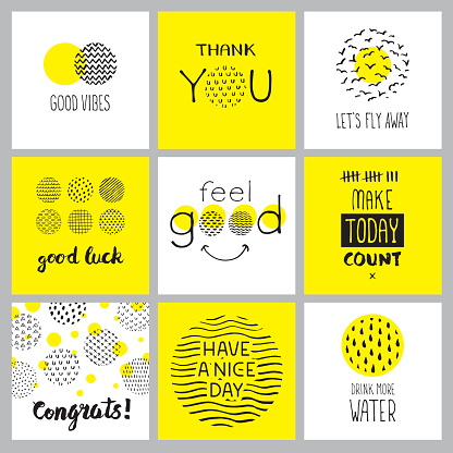 Positive hand drawn quotes