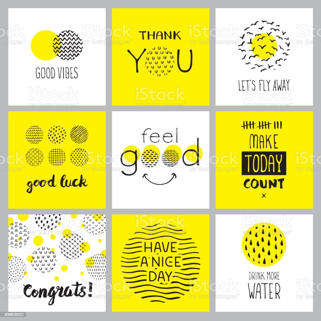 Positive hand drawn quotes vector art illustration