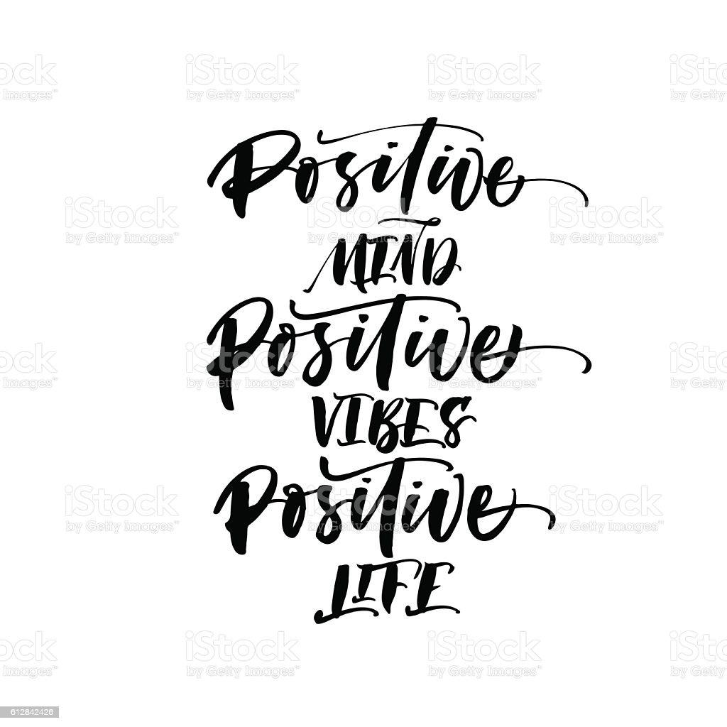 Positive Mind Positive Vibes Positive Life Postcard Stock Vector Art