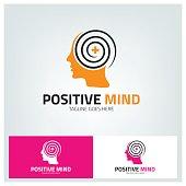 Positive mind design template. vector illustration