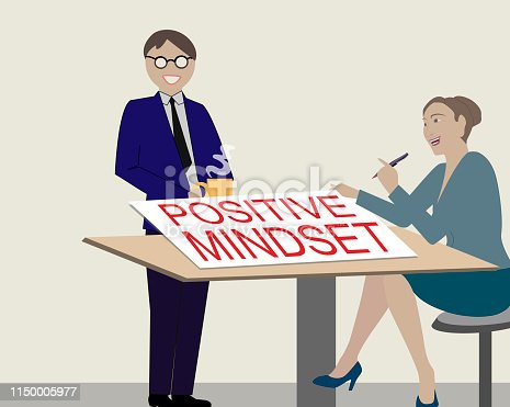 Positive Mindset.Vector