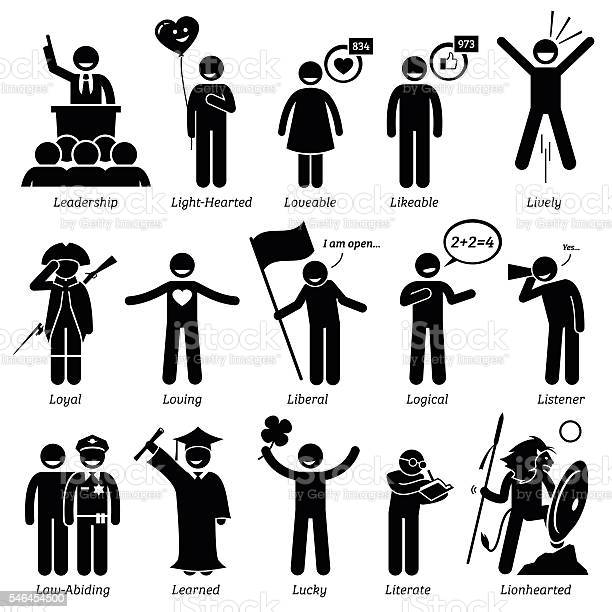 Positive personalities character traits stick figures man icons vector id546454500?b=1&k=6&m=546454500&s=612x612&h=dnpozyhydz6xrzxeoxk8m86y3rf2eq8e2pfer4vztrk=