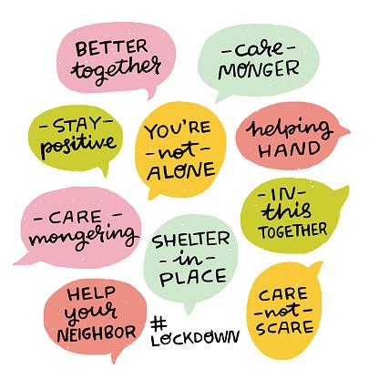 Positive phrases for lockdown