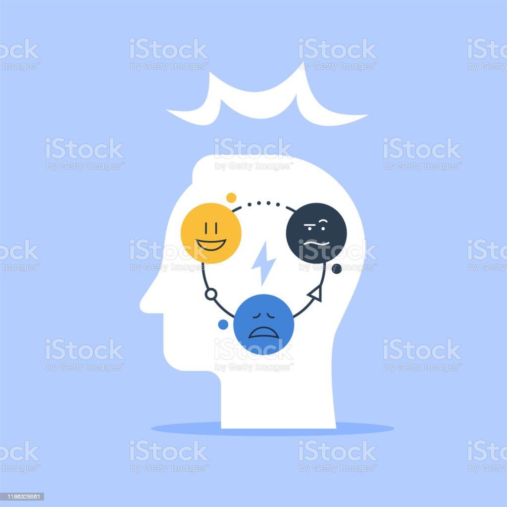 Concept De Psychologie Positive Test Psychologique Sentiments De Controle Saute Dhumeur Vecteurs Libres De Droits Et Plus D Images Vectorielles De Amelioration Istock