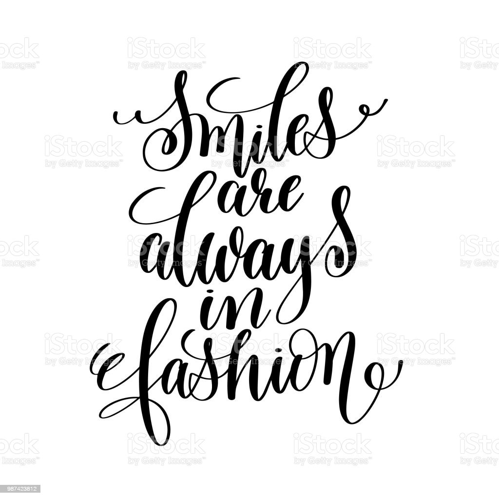 Positive Quotes Smiles Are Always In Fashion Stock Illustration Download Image Now Istock