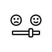 positive review icon vector. Thin line sign. Isolated contour symbol illustration