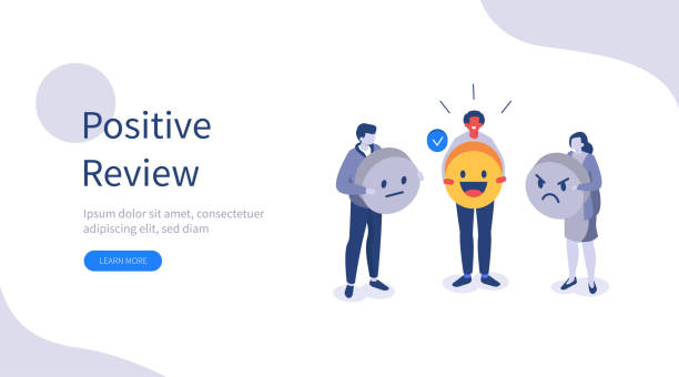 positive review vector art illustration