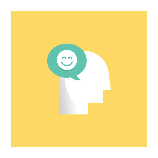 Positive Thinking Icon Positive Thinking Icon Flat Design attitude stock illustrations