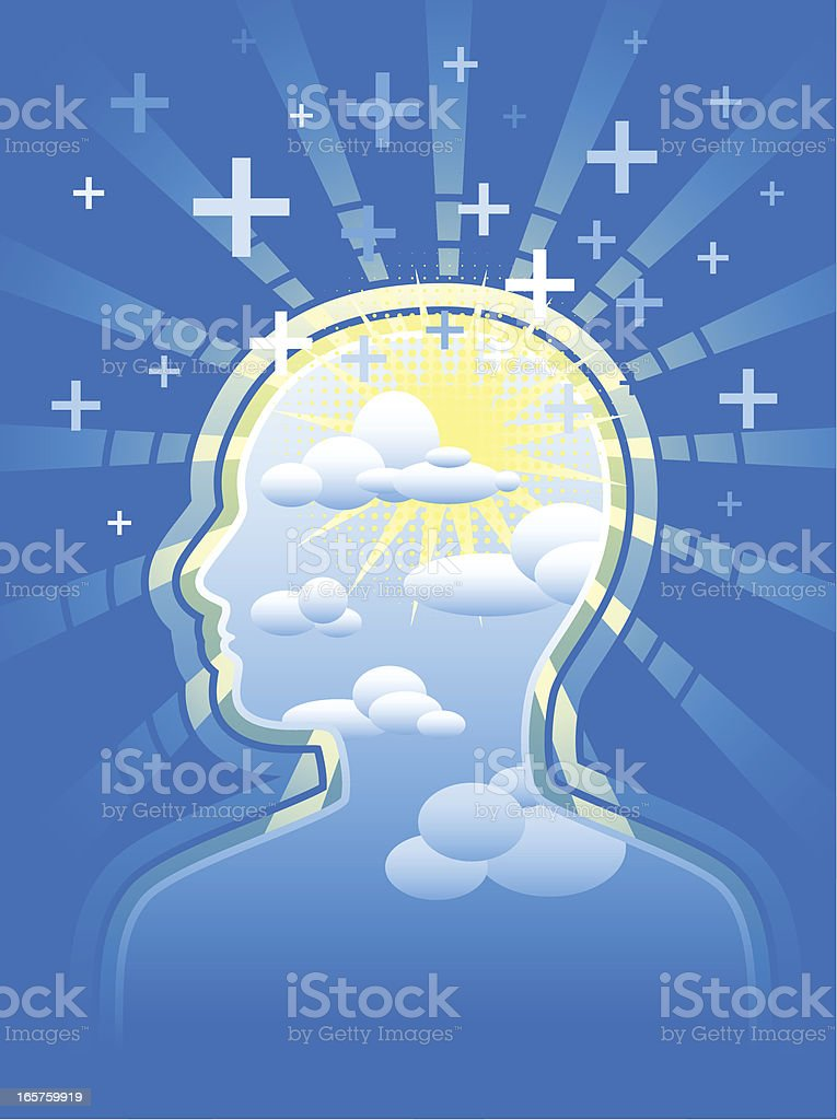 Positive Thoughts royalty-free positive thoughts stock vector art & more images of alternative medicine