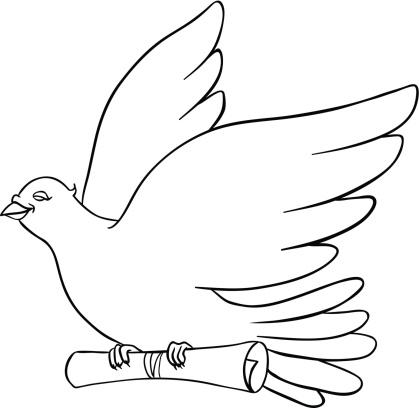 Post Bird, Mail pigeon, Vector illustration