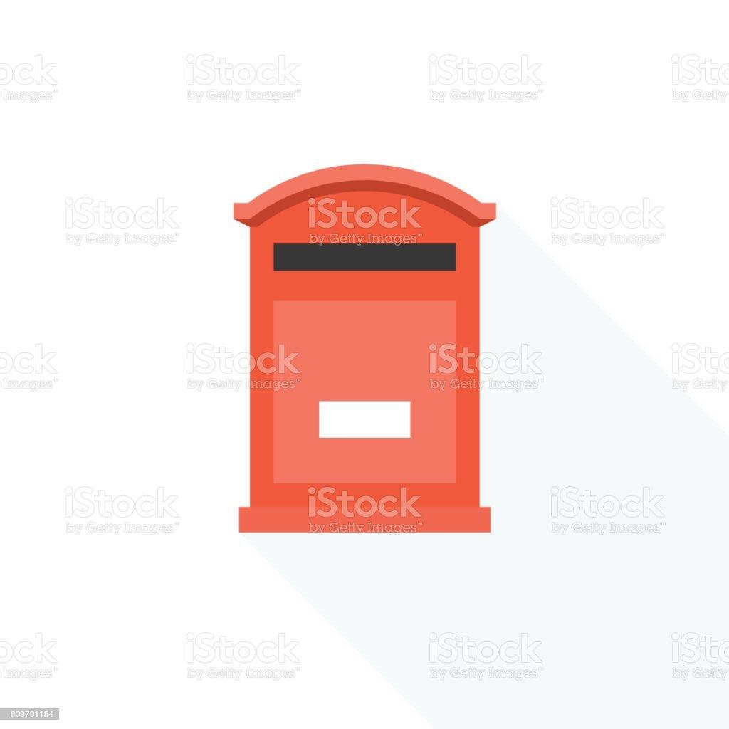 royalty free silhouette of the red british mailbox clip art vector rh istockphoto com Heart Clip Art Heart Clip Art