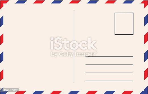 istock Post card template vector illustration 604827052