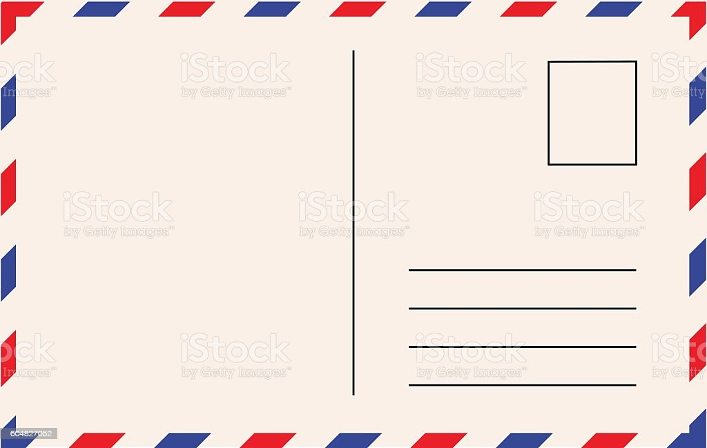 Royalty Free Postcard Clip Art Vector Images  Illustrations  Istock