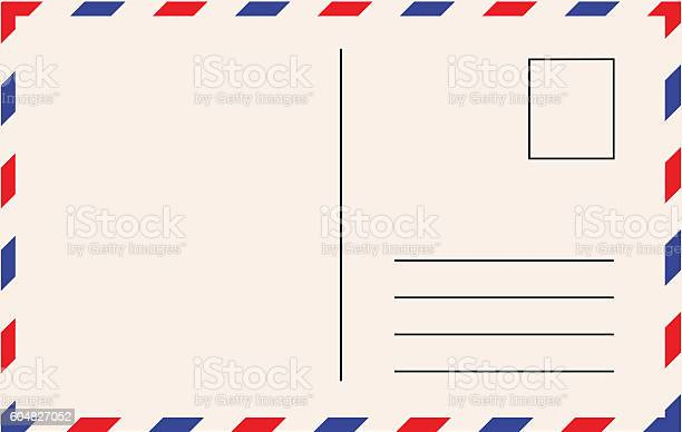 Post card template vector illustration