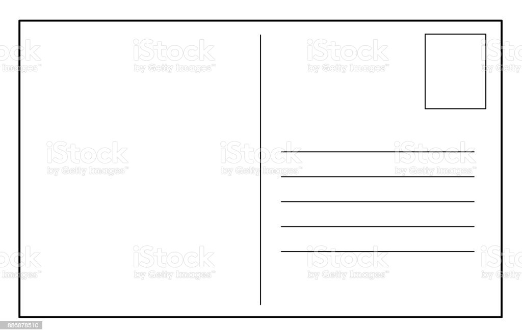 Post Card Vector Template Stock Illustration - Download Image Now - iStock