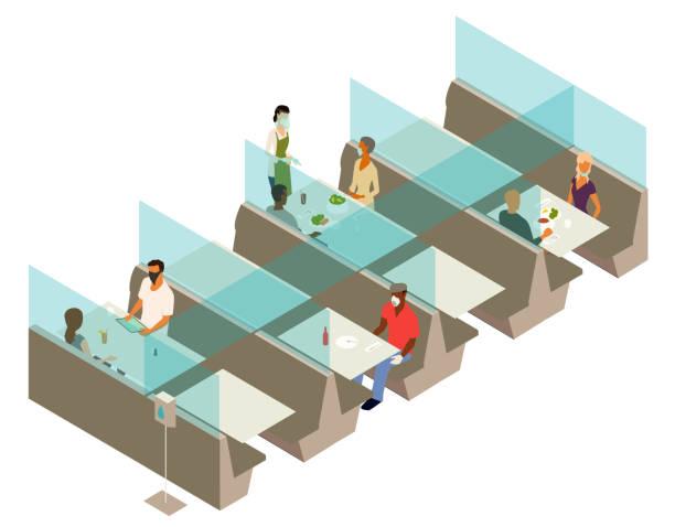 Post cover restaurant illustration vector art illustration