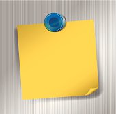 Post It Note on Metal Surface with Magnet
