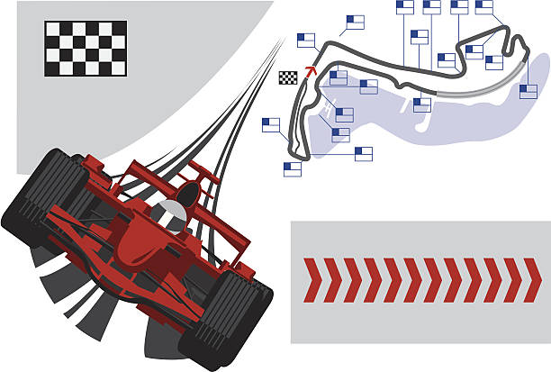 plakat monaco grand prix formuły 1 - formula 1 stock illustrations