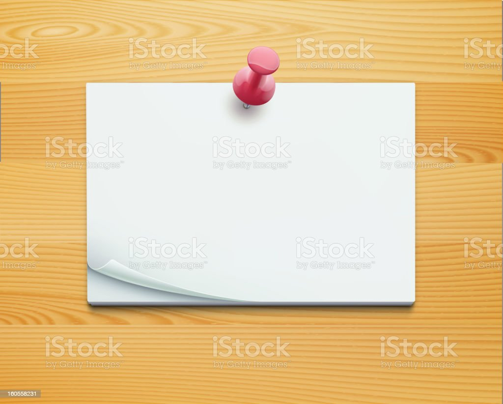 Post note royalty-free stock vector art