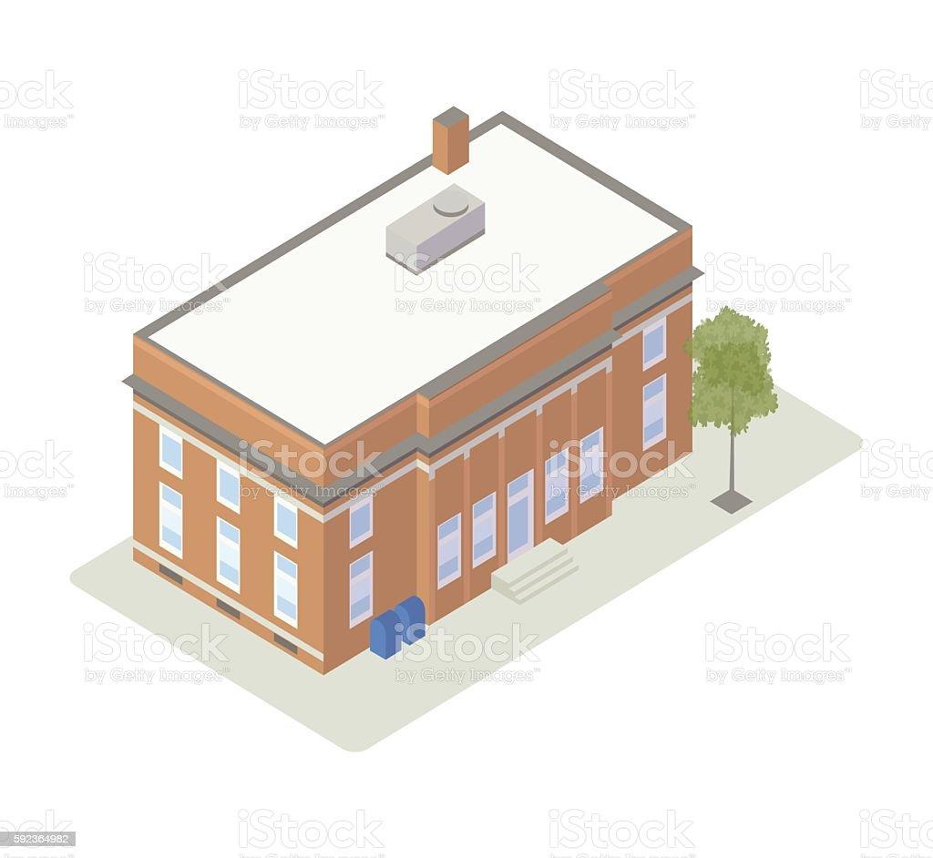 Post office isometric illustration vector art illustration