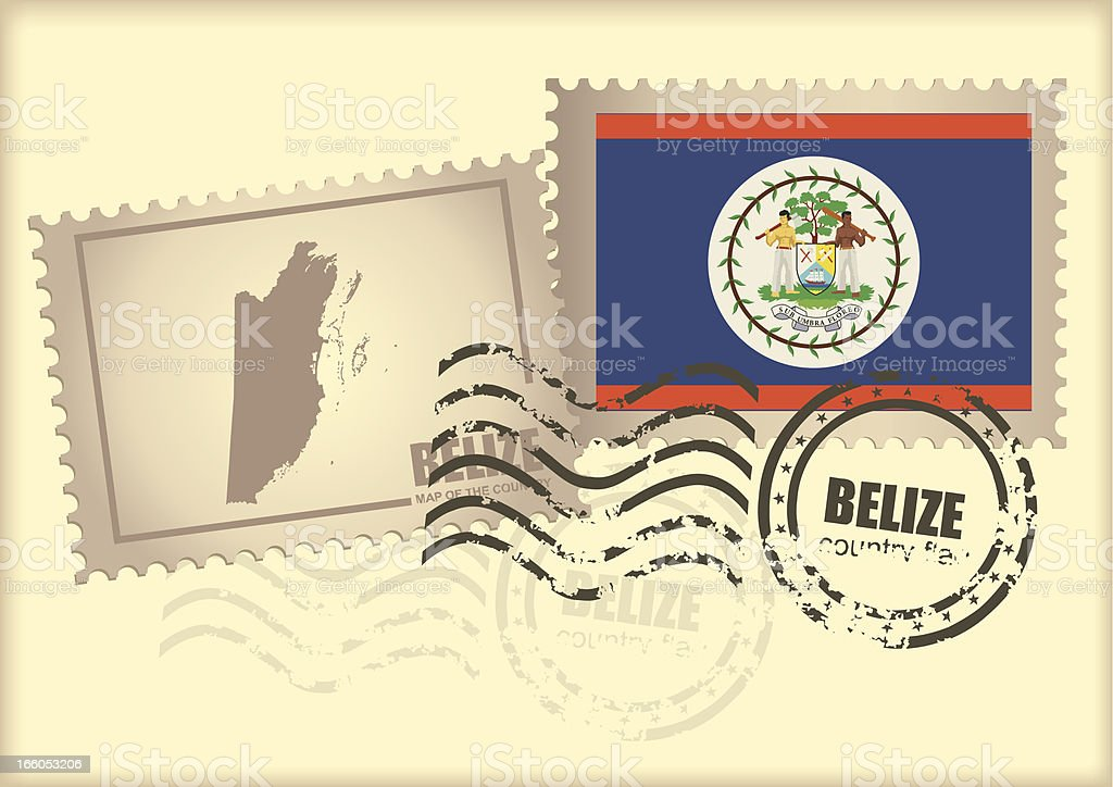 postage stamp belize royalty-free stock vector art