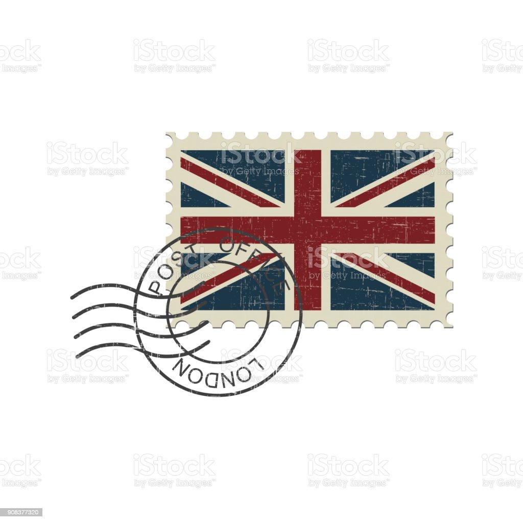 Postage Stamp Englische Flagge Stock Vektor Art Und Mehr Bilder Von