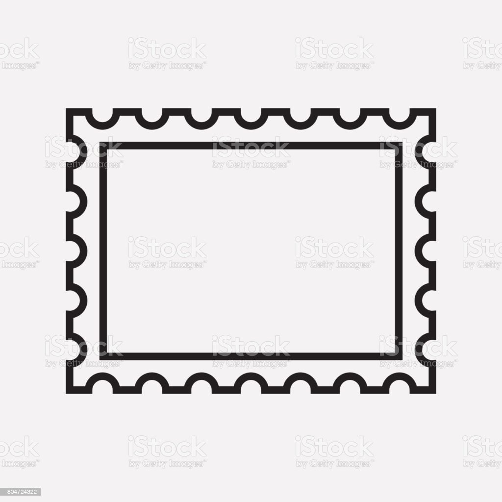 Postage Stamp Clip Art Black And White Royalty Free Postage S...