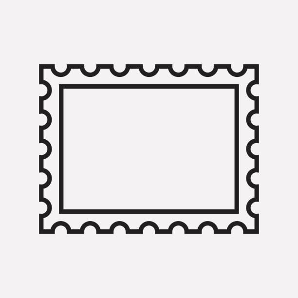 Postage Stamp Clip Art Black And White Royalty Free Po...