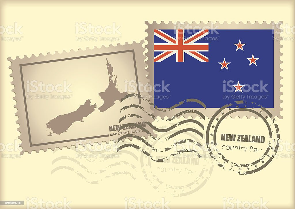 postage stamp New Zealand royalty-free postage stamp new zealand stock vector art & more images of asia