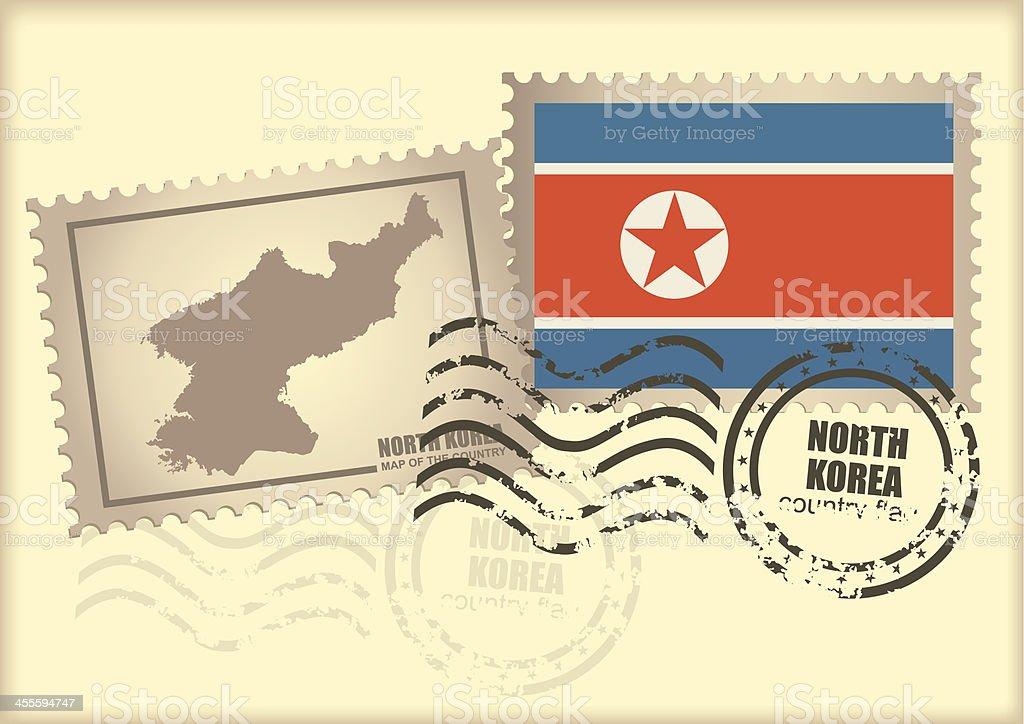 postage stamp North Korea royalty-free stock vector art